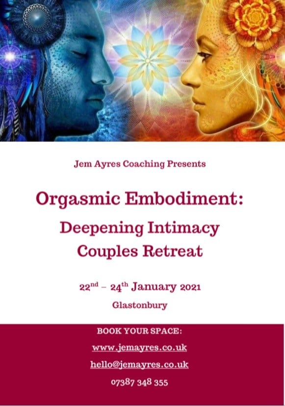 Deepening Intimacy for couples retreat with Sex Coach Jem Ayres